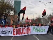 Manifestation pour l'education publique à Santiago du Chili