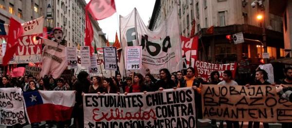 Manifestation au chili en 2015 pour l'éducation gratuite