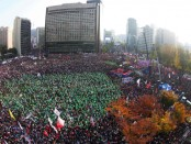 Manifestation en Corée du Sud pour la démission de la présidente