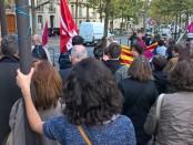 Rassemblement devant l'ambassade d'Espagne, Paris le 27/09