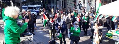 Rassemblement du 10/02 : liberté pour Ahed et tous les résistants et enfants palestiniens (photos et vidéos)