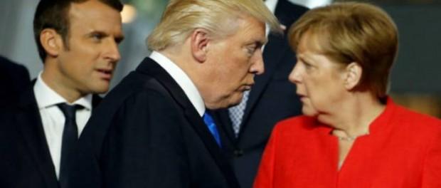 Rencontre entre Merkel, Macron et Trump