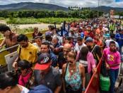 Des migrants vénézuéliens fuient la famine et la répression