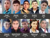 22 enfants palestiniens tués par l'état sioniste d'Israël