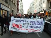 Banderole comité La lutte des classes est féministe