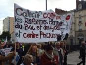 Manifestation des enseignants à Rennes le 12 novembre 2018