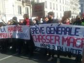 grève générale pour chasser Macron