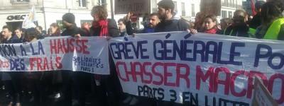 La grève générale, la seule solution pour dégager Macron (Paris 05-02, reportage photos et vidéos)