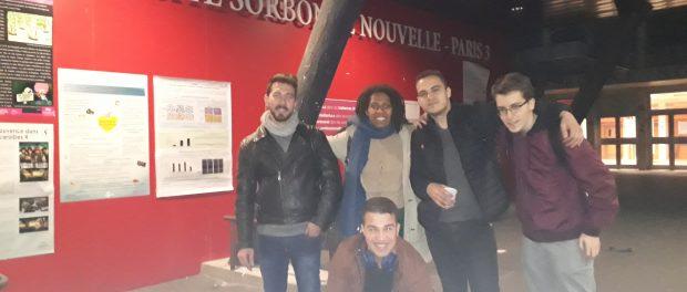 les militatns de Solidaires Paris 3 après le dépouillement le 3 avril 2019