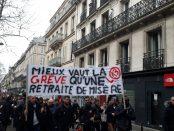 Ligne 13 en grève et en manifestation le 17 décembre 2019 à Paris