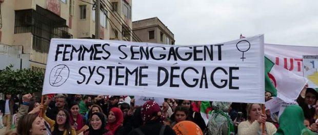 Manifestation en Algérie avril 2019 contre le régime de Bouteflika les femmes s'engagent Système dégage