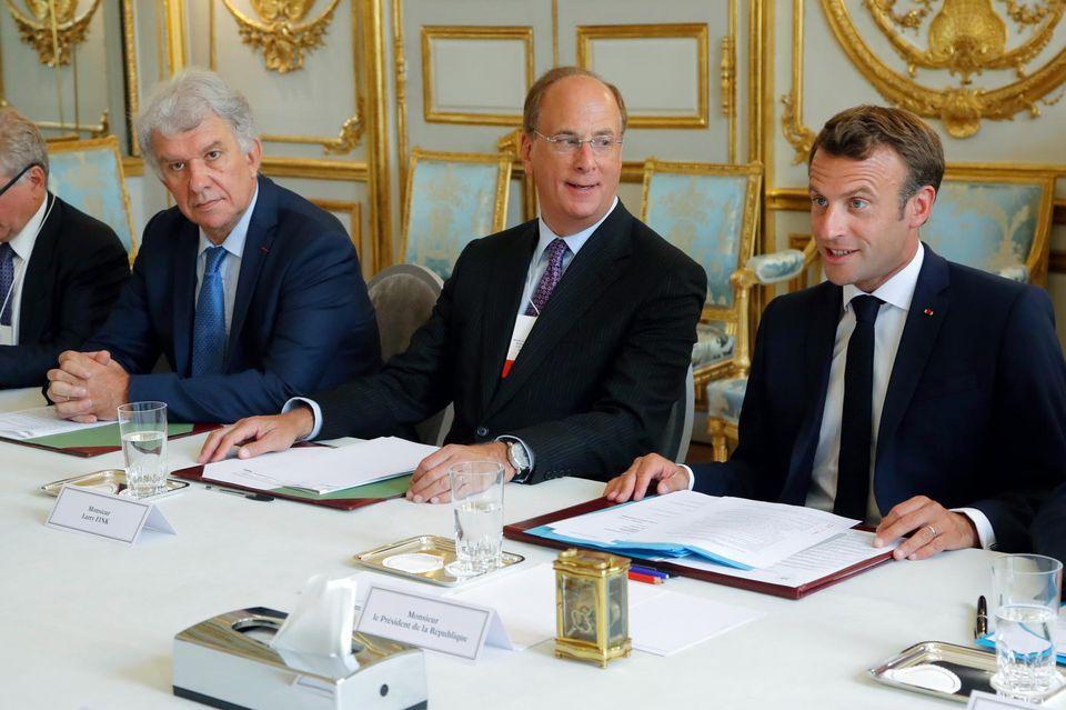 RDV Macron et le groupe BlackRock
