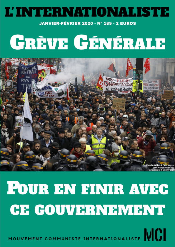 Une de l'Internationaliste, journal du MCI