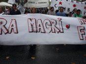 Fuera Macri, Dehors Macri. Manifestation en Argentine