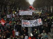 Manifestation à Paris le 9 janvier 2020 contre la contre-réforme des retraites