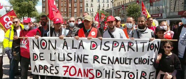 Mobilisation Reanult Choisy Le Roi 2020 Contre la fermeture de l'usine