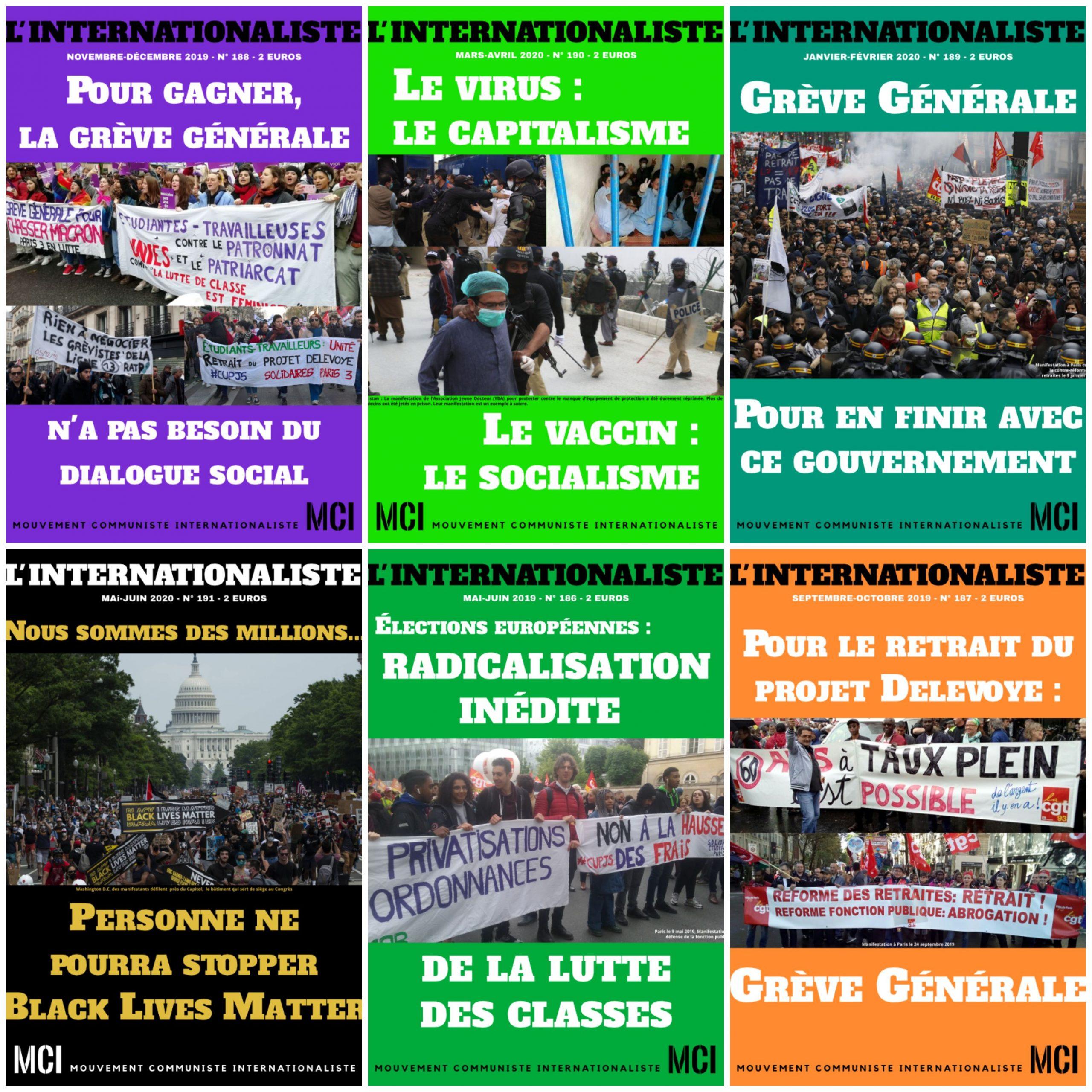 Soutenez le MCI, abonnez-vous à la formule PDF de L'Internationaliste en nous écrivant
