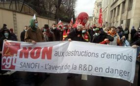 Manifestation nationale contre les licenciements