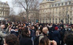 30-01, Paris, la lutte contre la loi Sécurité Globale se poursuit