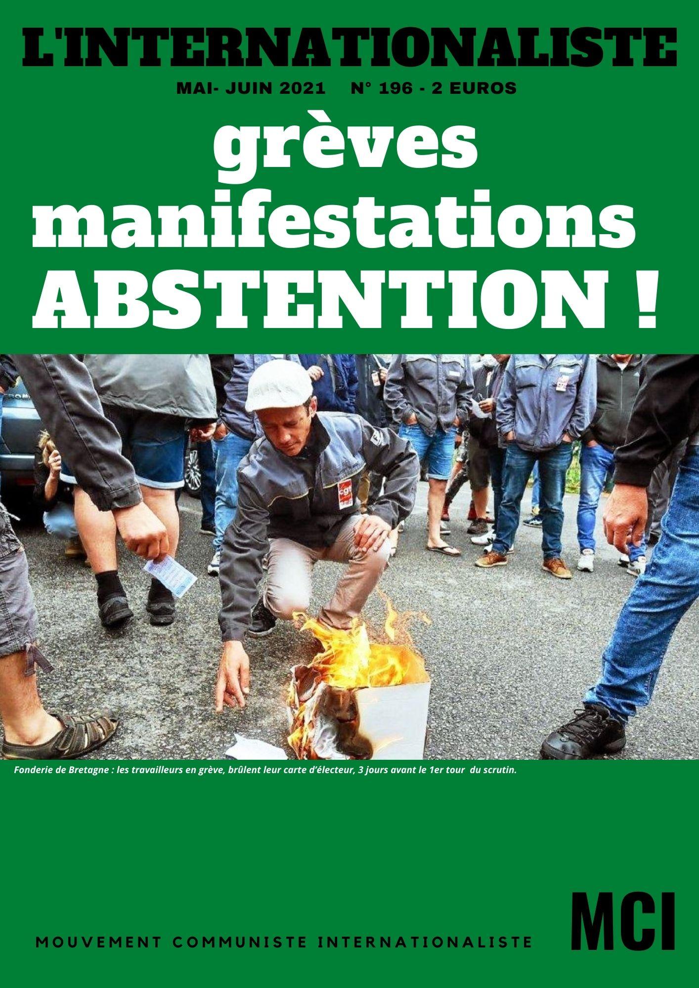 Une de l'Internationaliste, journal du MCI