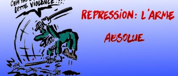 caricature contre la répression