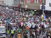 Manifestation étudiante en Afrique du Sud