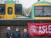 Les cheminots de la banlieue londonienne en grève