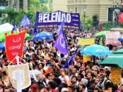 Manifestation au Brésil le 29 septembre 2018 contre Bolsonaro