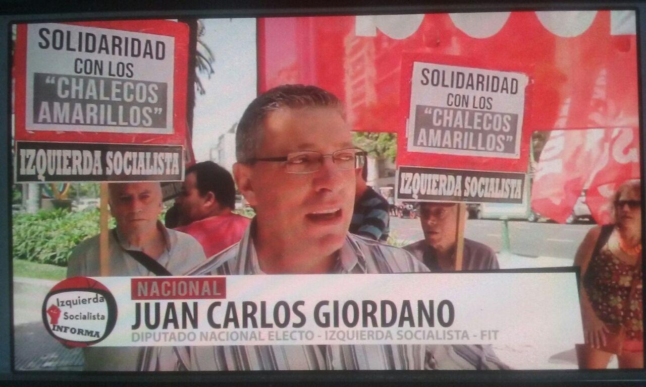 ARGENTINE,Gilets Jaunes: Manifestation de soutien devant l'ambassade de France