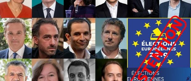Tete de liste européennes 2019 Abstention