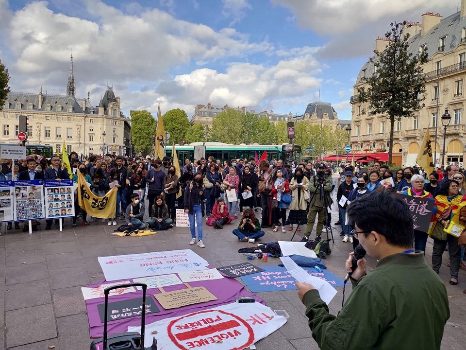 Rassemblement en solidarité avec Hongkong du 28 octobre 2019 à Paris