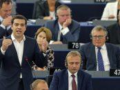 Alexis Tsipras, Siriza, au Parlement Européeen, Juillet 2015