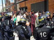 Photos de l'expulsion violente des réfugiés de la Porte de la Chapelle à Paris début juin 2015