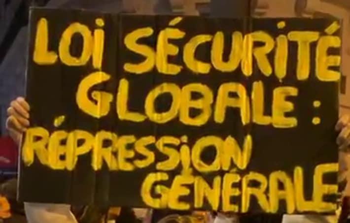 Loi de sécurité globale: manifestation et grève jusqu'au retrait!